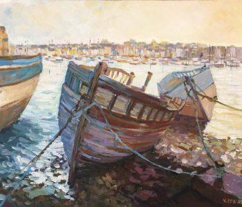 """""""Carcasses de bateaux"""" - Acrylique sur toile - 60 cm x 50 cm - Ref.731/2017"""