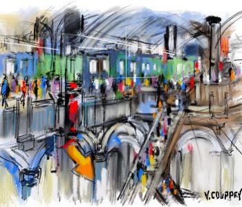 """""""Ambiance de gare"""" - Étude numérique sur tablette - 2020"""